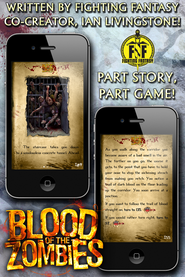 Fighting Fantasy: Blood of the Zombies iPhone